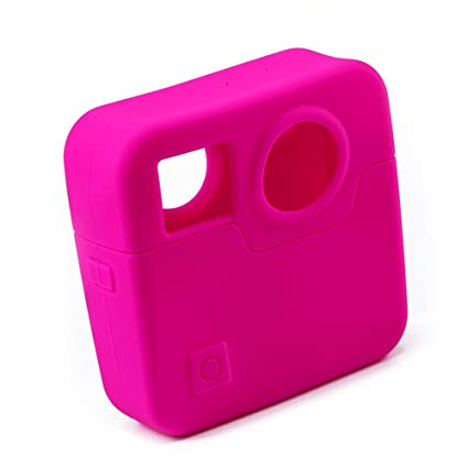 4a1dfe1909a136 Buy LEDMOMO Silicone Protective Housing Cover Case Full Body Protective  Cover Skin for GoPro Fusion Action Camera (Rosy Color) Online at Low Price  in India ...