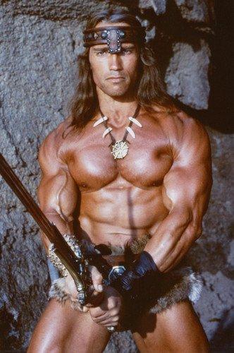 Arnold Schwarzenegger 24x36 Poster Conan the Barbarian Silverscreen