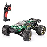 GPTOYS S912 RC Car, All Terrain Up to 42km/h 1/12 Scale Off Road Full Proportional Radio Controlled Electric Semi-Waterproof RC Monster Truck 2WD Monster Truggy - Best Gif for Kids and Adults, Green