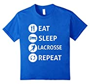Funny Eat Sleep Lacrosse Repeat T-shirt