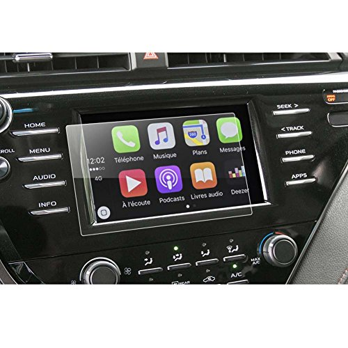 LFOTPP 2018 Toyota Camry LE SE 7 Inch Car Navigation Screen Protector, [9H] Tempered Glass Infotainment Center Touch Screen Protector Anti Scratch High Clarity