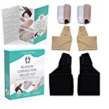 Orthopedic Bunion Corrector, 3PCS Bunion Relief Kit by Global Wise Buys - Set of 2 Hallux Valgus Toe Splints, 2 Corrective Silicone Toe Separators & Straighteners & 2 Gel Padded Cushioned Sleeves