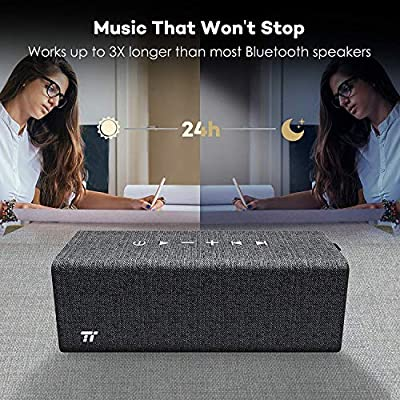 Bluetooth Speakers,TaoTronics Wireless Speakers with Bluetooth 4.2, 24 Hours Speakers,16W Rock Wireless Portable Stereo Speaker (Voice Guidance and Built-in Microphone)