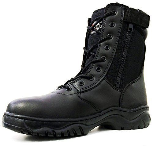 Men's Tactical Boots Black Side Zipper 8