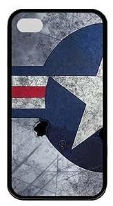 iPhone 4S Case,Air Force Insignia11 TPU Custom iPhone 4/4S Case Cover Black