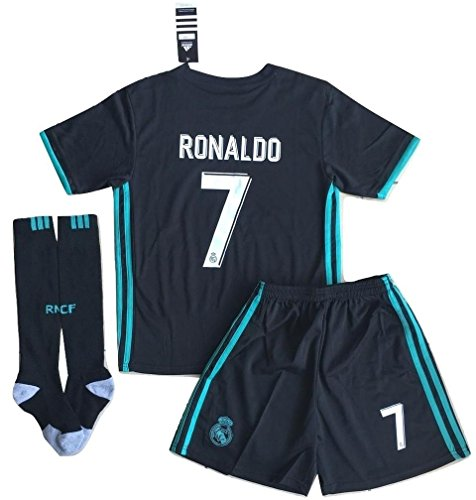VVBSoccerStore New #7 Ronaldo 2017/2018 Real Madrid Away Jersey Shorts & Socks For Kids/Youths (9-10 Years ()