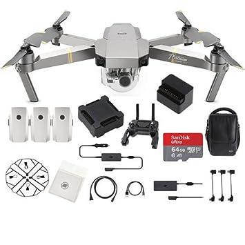 DJI Mavic Pro Platinum Fly más Combo Plegable Quadcopter Drone ...