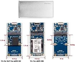 Zheino MSATA SSD Enclosure Half Size Msata and to USB 3.0 Aluminum Housing...
