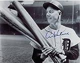 Al Kaline Autographed Detroit Tigers 11x14 Photo - Holding Bats