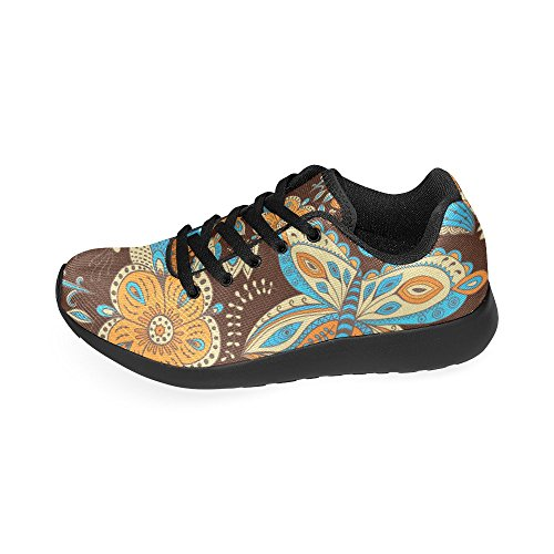 running de Lona Negro Color para Zenzzle 10 de Zapatillas mujer negro 4qIET