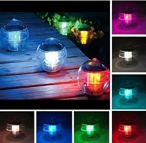 2-Pk Outdoor Garden Solar Landscape Ball Light 2 Color Changing LEDs