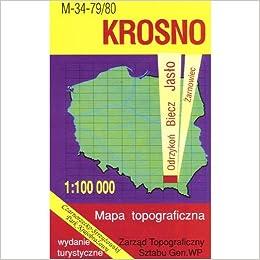 Krosno Region Map Unknown 9788371350634 Amazon Com Books