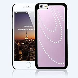 Super Best Apple Iphone 6 LUXURY CRYSTAL Sand blast Pink Case Bling Hard Cover with Black Frame For Apple Iphone 6 by G4GADGET®