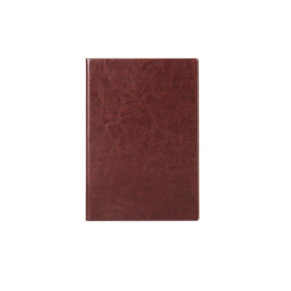 TONGBOSHI 25k320 Page Business Leather Notebook, Office Notebook Notebook, Black, Brown, Blue Note Notebook (Color : Brown)