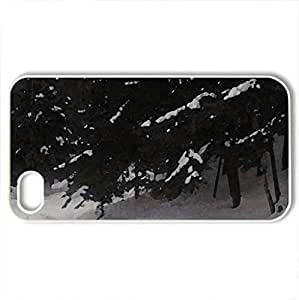 ; Big Cedar, Pure Snow ; - Case Cover for iPhone 4 and 4s (Winter Series, Watercolor style, White)