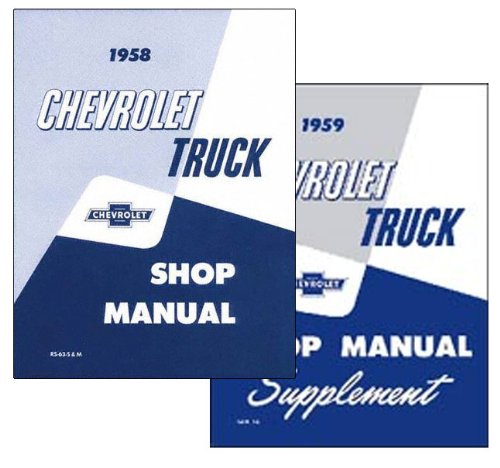 1955 Chevrolet Series I Pickup and Truck Repair Shop Manual Set 2 Service Books