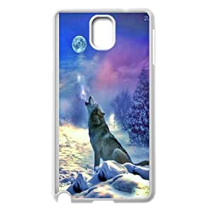 James-Bagg Phone case Wolf love noon,wolf pattern For Samsung Galaxy NOTE4 Case Cover FHYY450194