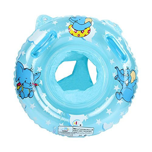 Evaliana Baby Kids Swimming Inflatable Ring Safety Seat Float Raft Chair Pool Bathtub Toy