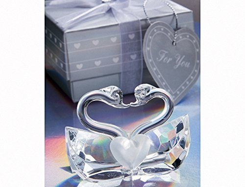 Choice Crystal Collection kissing swan wedding favors, 1
