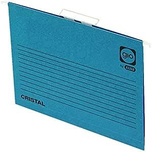 Elba Gio - Caja de 25 carpetas colgantes para cajón, Fº, color azul: Amazon.es: Oficina y papelería
