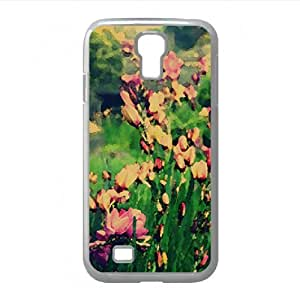 lintao diy Bunch of Flowers Watercolor style Cover Samsung Galaxy S4 I9500 Case (Flowers Watercolor style Cover Samsung Galaxy S4 I9500 Case)