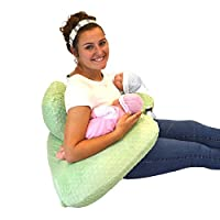 THE TWIN Z PILLOW- LIGHT GREEN -The Only 6 in 1 Twin Pillow Breastfeeding, Bo...