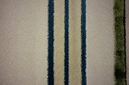 Modern Abstract Plush 3 feet by 7 feet (3\' x 7\') Abstract Shag Ivory Contemporary Area Rug