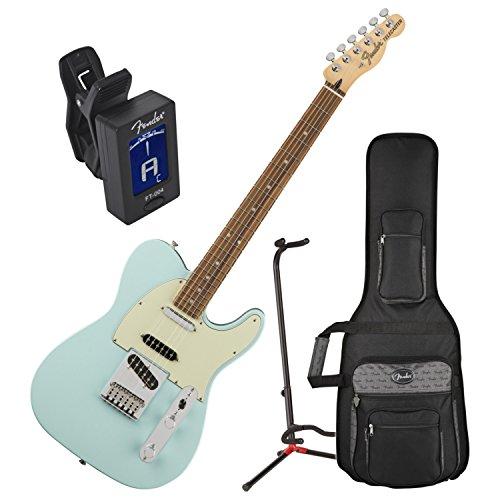 Fender Deluxe Nashville Telecaster Electric Guitar Daphne Blue Pau Ferro Fingerb