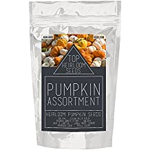Top Heirloom 7 Pumpkin Assortment NON-GMO Heritage Jack O' Lantern, Big Max, Cushaw, Sugar and more