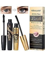 4D Silk Fiber Lash Mascara, Fiber Mascara, 4D Silk Fiber Eyelash Mascara Waterproof, Best for Thickening & Lengthening, Lasting All Day, Waterproof, Smudge Proof