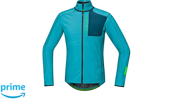 Amazon.com : Gore Bike Wear Men´s, Mountain bike thermo jersey, Long sleeves, GORE Selected Fabrics, POWER TRAIL Thermo, Size L, Scuba Blue/Ink Blue, ...