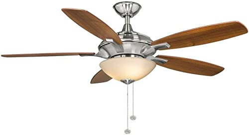 Hampton Bay Springview 52 in. Brushed Nickel Ceiling Fan 750809