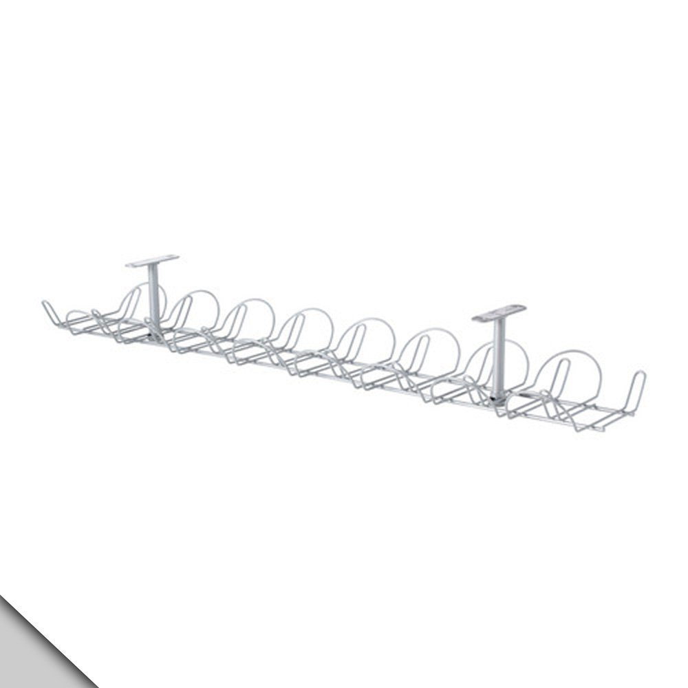 IKEA - SIGNUM Cable management, horizontal, silver color (FBA) 3-Pack
