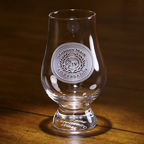 YOUR LOGO carved on 4 Glencairn Whiskey glasses (Set of 4) - Logo Etched Glass