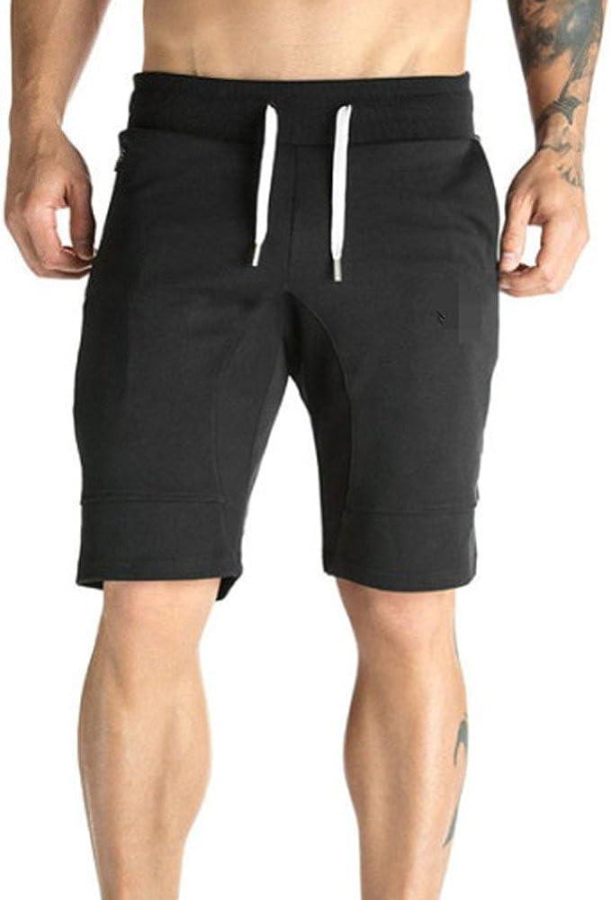 Shorts for Men F/_Gotal Men/'s Casual Stripe Print Drawstring Elastic Waist Sports Pants Training Jogger Shorts Sweatpants