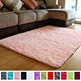 PAGISOFE Soft Girls Room Rug Baby Nursery Decor Kids Room Carpet 4' x 5.3',Pink: more info