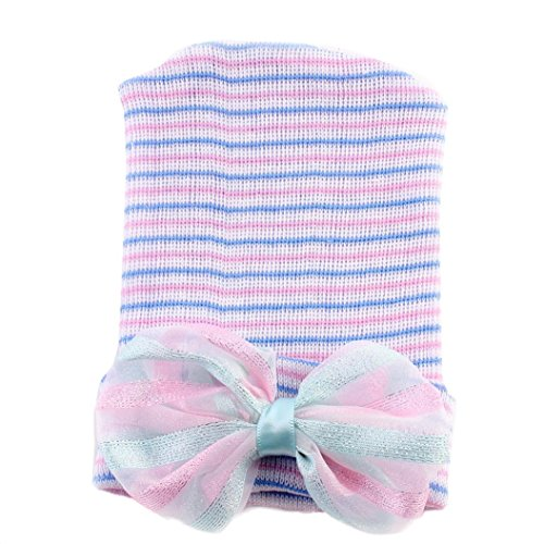 [Newborn Photography Prop,Buba Baby Bow-knot Hat (Hot Pink)] (Turban And Beard Costume)