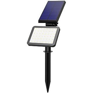Luz Solar / Focos Led Exterior de VicTsing. En 5 modos de iluminación (Alta / Media / Baja / Flash / SOS) Para Jardín, Patio, camino, Exterior Etc ( Impermeable IP65, 500 lúmenes & 1Pack & 48LEDs )