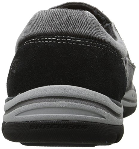 previsto Casual Skechers scarpa uomo sulla Avillo nero scivolare fwdZ7