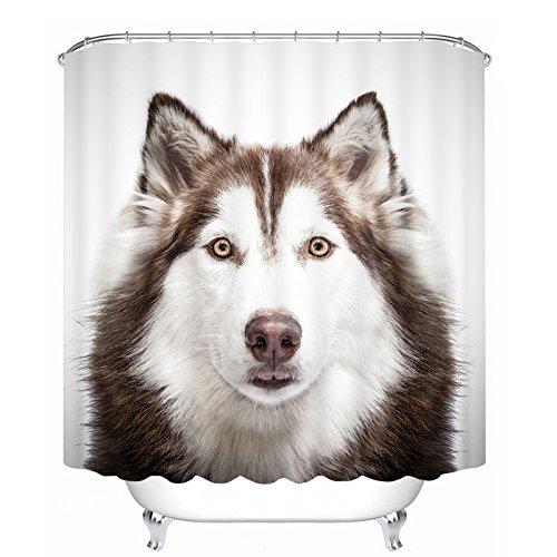 3D Bathroom Polyester Waterproof Shower Curtain 7# - 6