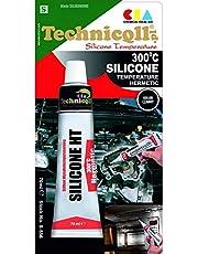 Technicqll Zwarte siliconen hoge temperatuur afdichtmiddel 70 ml, hittebestendig tot 300 °C