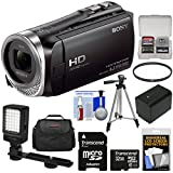 Sony Handycam HDR-CX455 8GB Wi-Fi HD Video Camera Camcorder with 32GB Card + Battery + Case + Tripod + LED Light + Filter + Kit