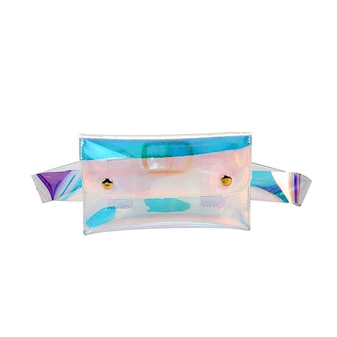 Amazon.com: luoem bolsas de cintura brillante piel sintética ...