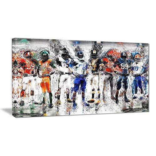 - Digital art PT2505-32-16 Football Team - Large Sport Canvas Art, 32x16