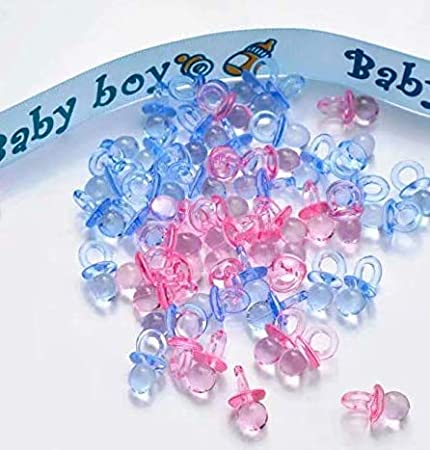 Baby Shower Party Favours Decoration Candy Filling Bottles 9 x 4cm Pack of 12 Blue