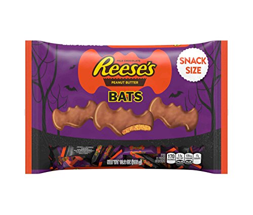 Reese's Halloween Snack Size Peanut Butter Bats 10.2oz Bag - 2 Pack