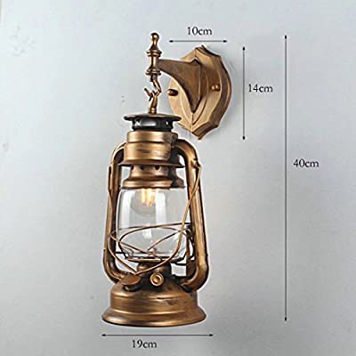 Iron Retro Lanterne Wall Sconce Antique Horse Lamp Wall Lamp Living Room Bedroom Bedside Mirror Headlight Bathroom Lighting Fixtures