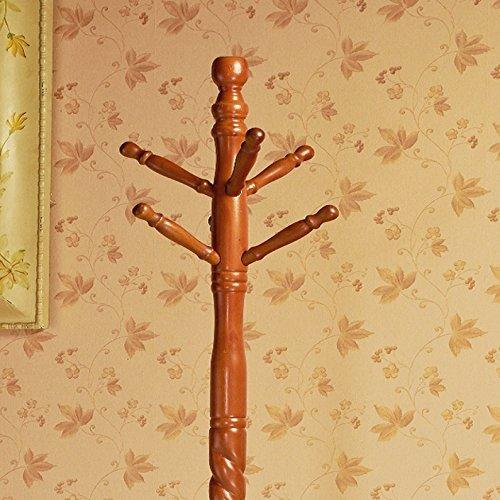 Frenchi Home Furnishing Swivel wooden Coat Rack Stand, Oak