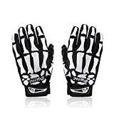 iParaAiluRy Skeleton Gloves for Women Men - Anti-slip Gel Padded Skull Gloves for Cycling Riding Motorcycle Ski - Finger Bone Skeleton Costume Gloves