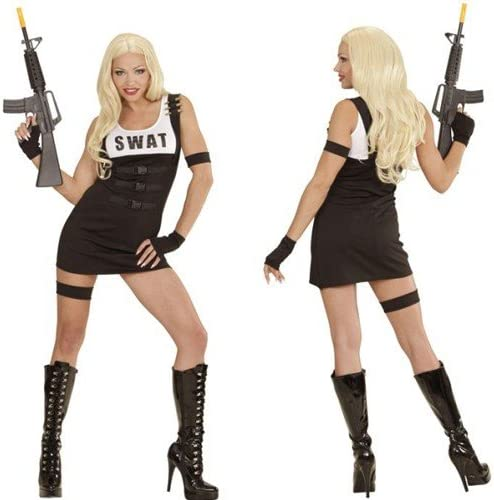 SWAT Disfraz Sexy Girl Uniforme Outfit offizer Policía Cop Team ...